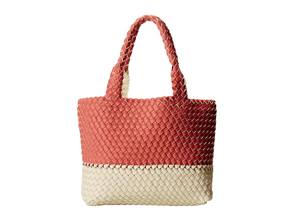 Gabriella Rocha - Becca Woven Color Block Tote (Pink/Ivory) Tote Handbags