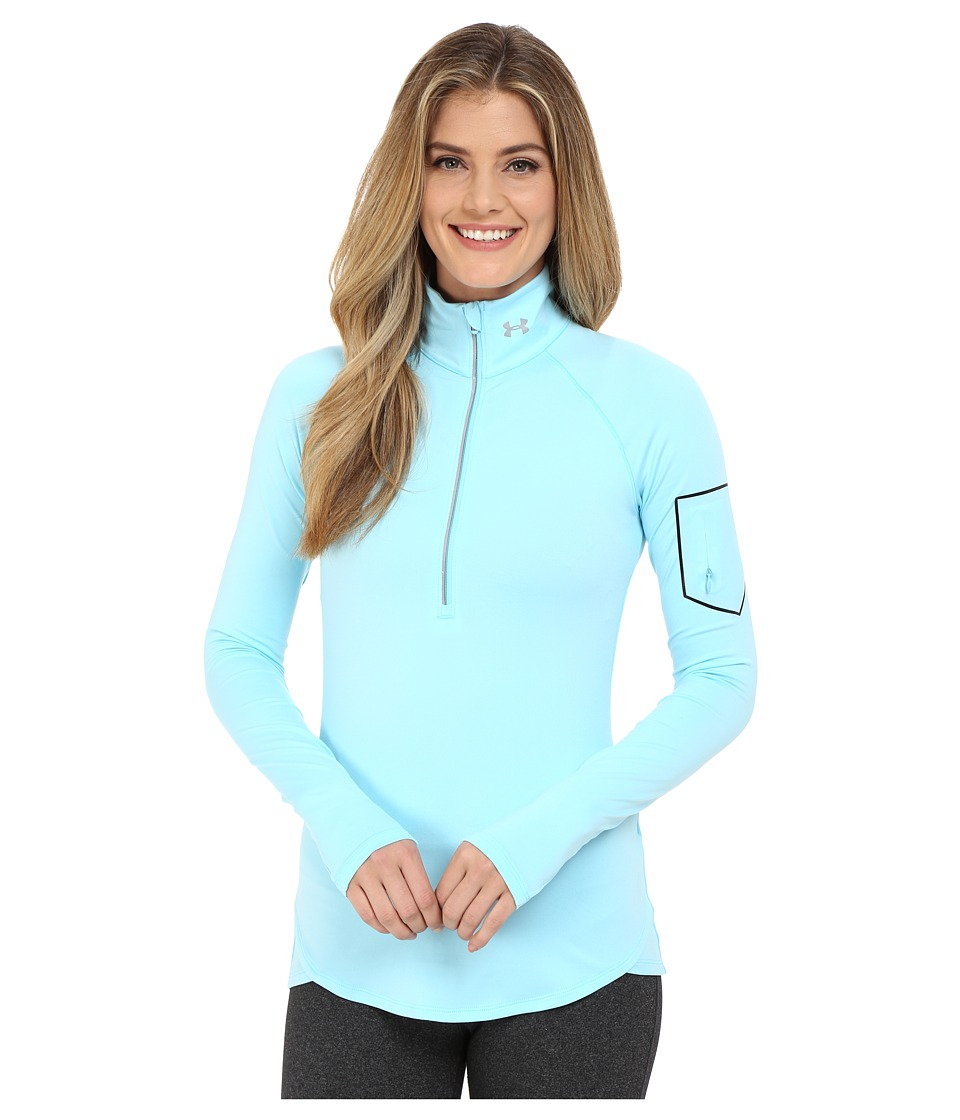 Under Armour - UA Fly Fast 1/4 Zip (Sky Blue/Sky Blue/Reflective) Women's Long Sleeve Pullover