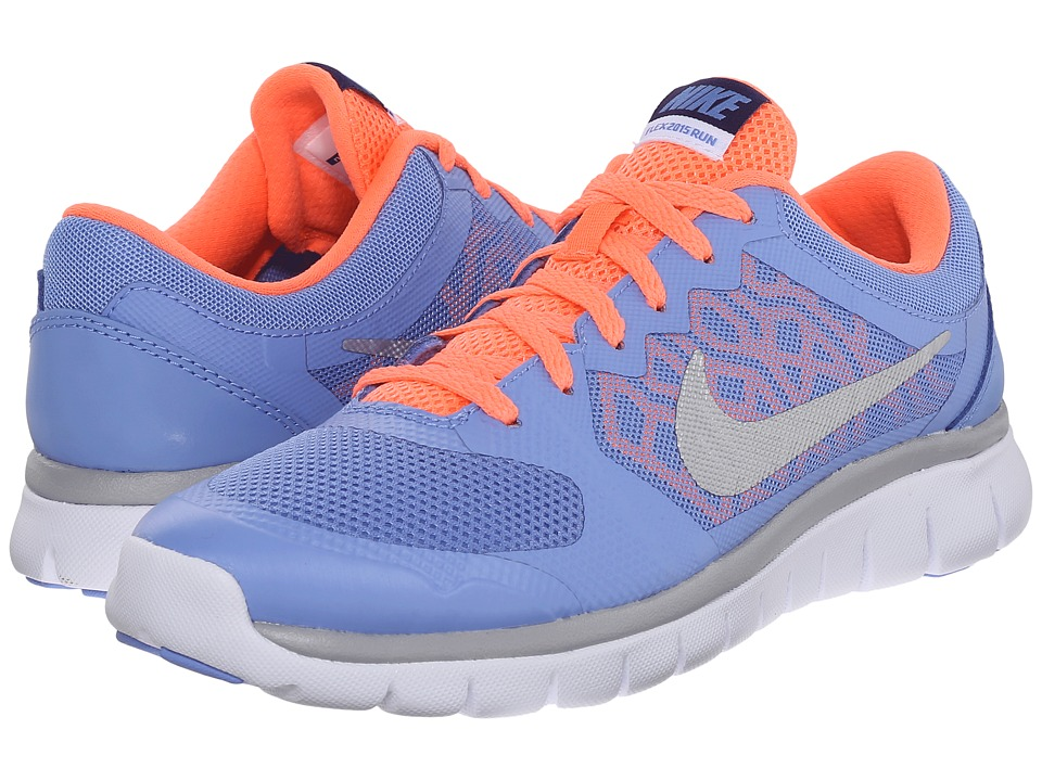 Nike Kids - Flex 2015 Run (Big Kid) (Chalk Blue/Obsidian/White/Metallic Silver) Girls Shoes