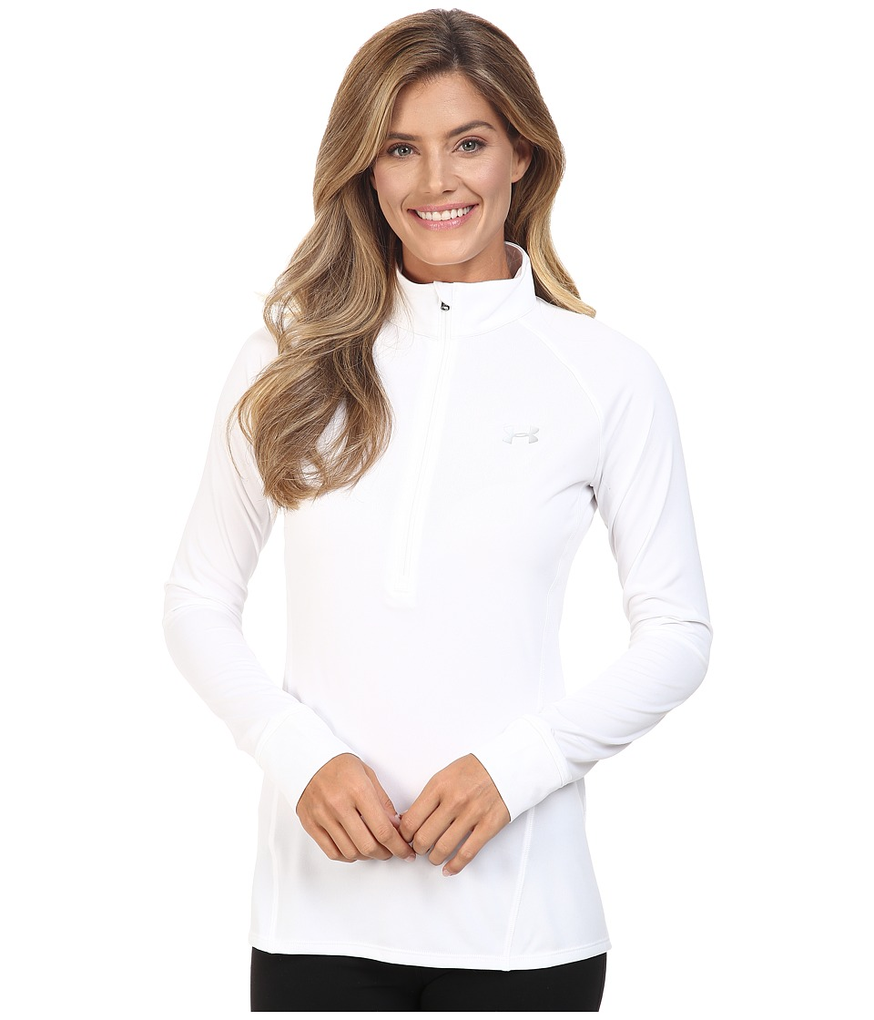Under Armour - UA Techtm 1/2 Zip (White/Metallic Silver) Women's Sweatshirt
