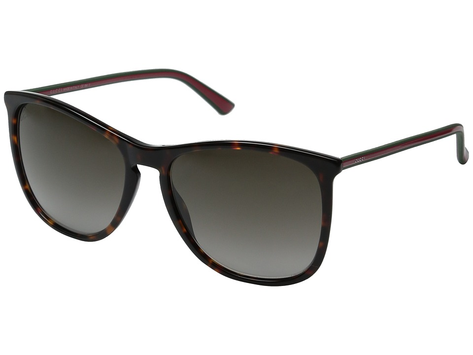 Gucci - GG 3767/S (Havana Red Green Red/Brown Gradient) Fashion Sunglasses