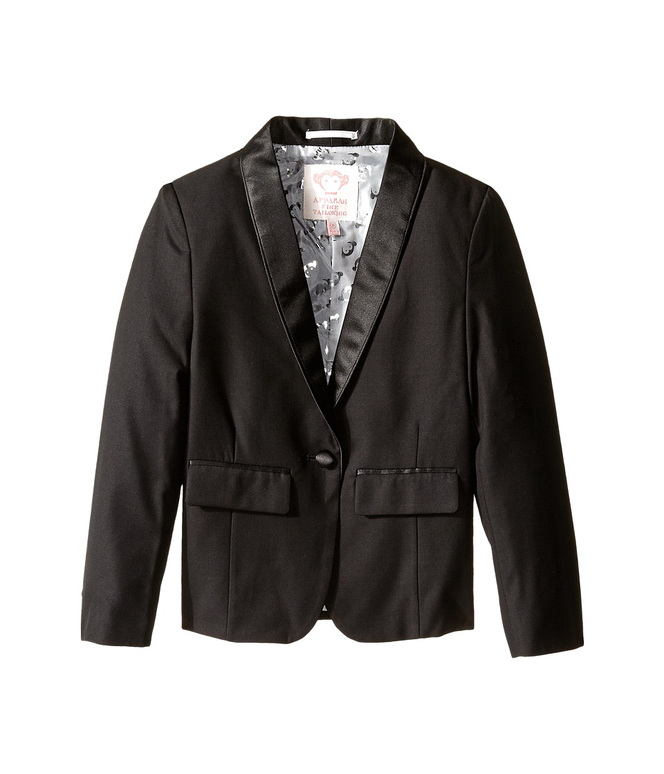 Appaman Kids - Tuxedo Blazer (Toddler/Little Kids/Big Kids) (Black) Girl