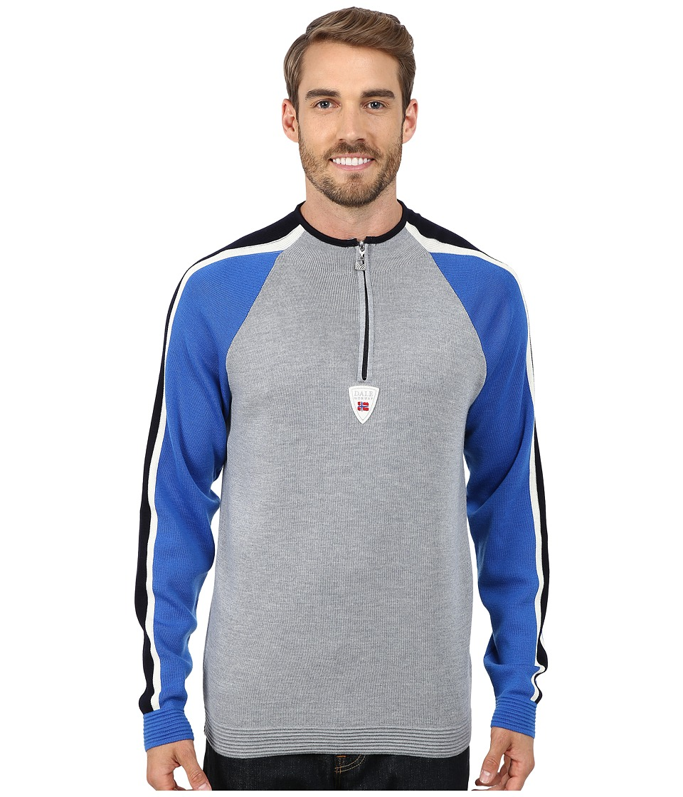 Dale of Norway - Besseggen Masculine (Grey Mel/Cobalt/Off White/Navy) Men's Sweater