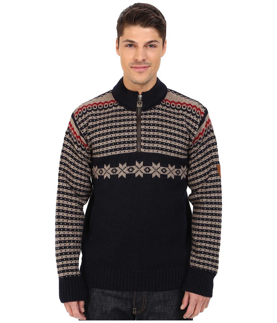 Dale of Norway - Fisketorget (Navy/Mountainstone/Red Rose) Men's Sweater