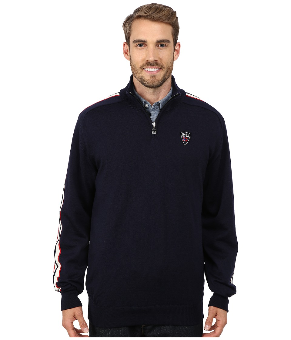 Dale of Norway - Flagg Masculine (Navy/Raspberry/Off White) Men's Sweater