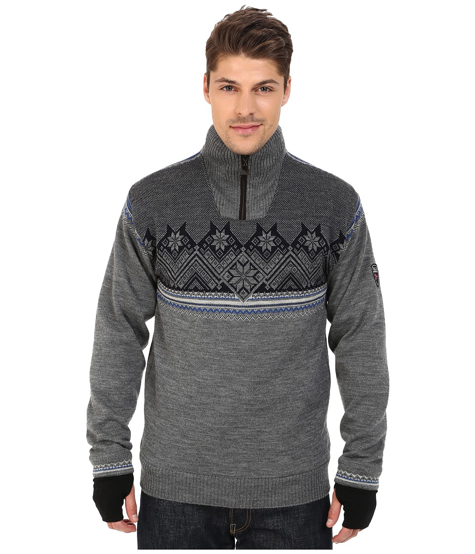 Dale of Norway - Glittertind Masculine (Smoke/Cobalt/Navy/Light Charcoal) Men's Sweater