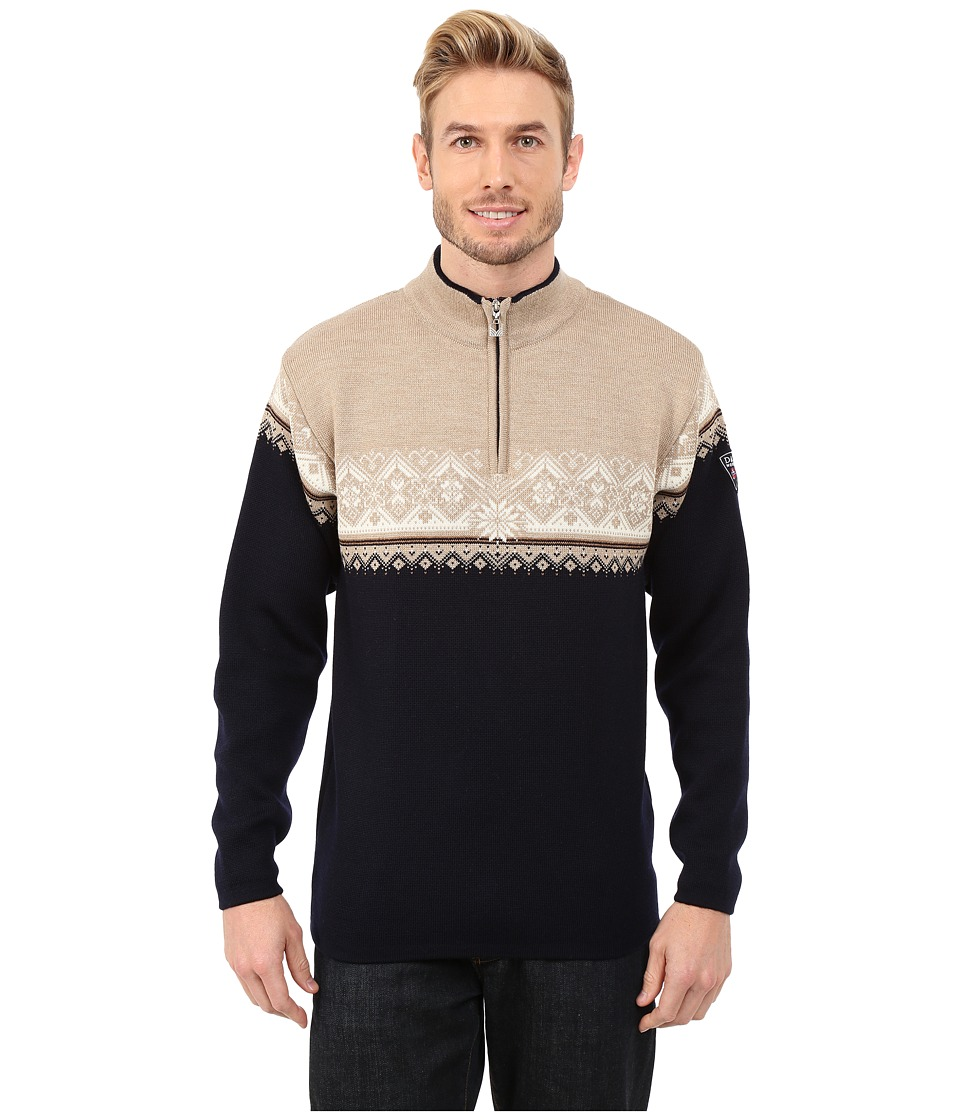 Dale of Norway - St. Moritz Masculine (Navy/Beige/Bronze Mel/Off White) Men's Sweater