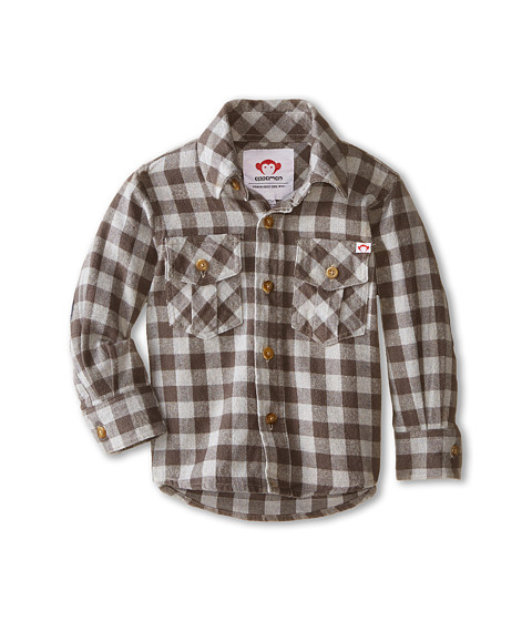 Appaman Kids - Flannel Shirt (Toddler/Little Kids/Big Kids) (Grey Gingham Plaid) Boy's Clothing