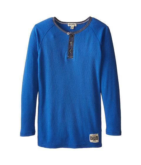 Appaman Kids - Long Sleeve Henley (Toddler/Little Kids/Big Kids) (Strong Blue) Boy's Long Sleeve Pullover