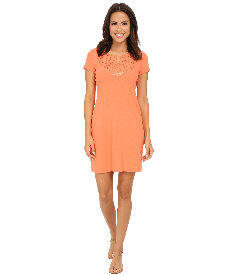 Tommy Bahama - Arden Embroidered Cap Sleeve Dress (Melon Sorbet) Women's Dress