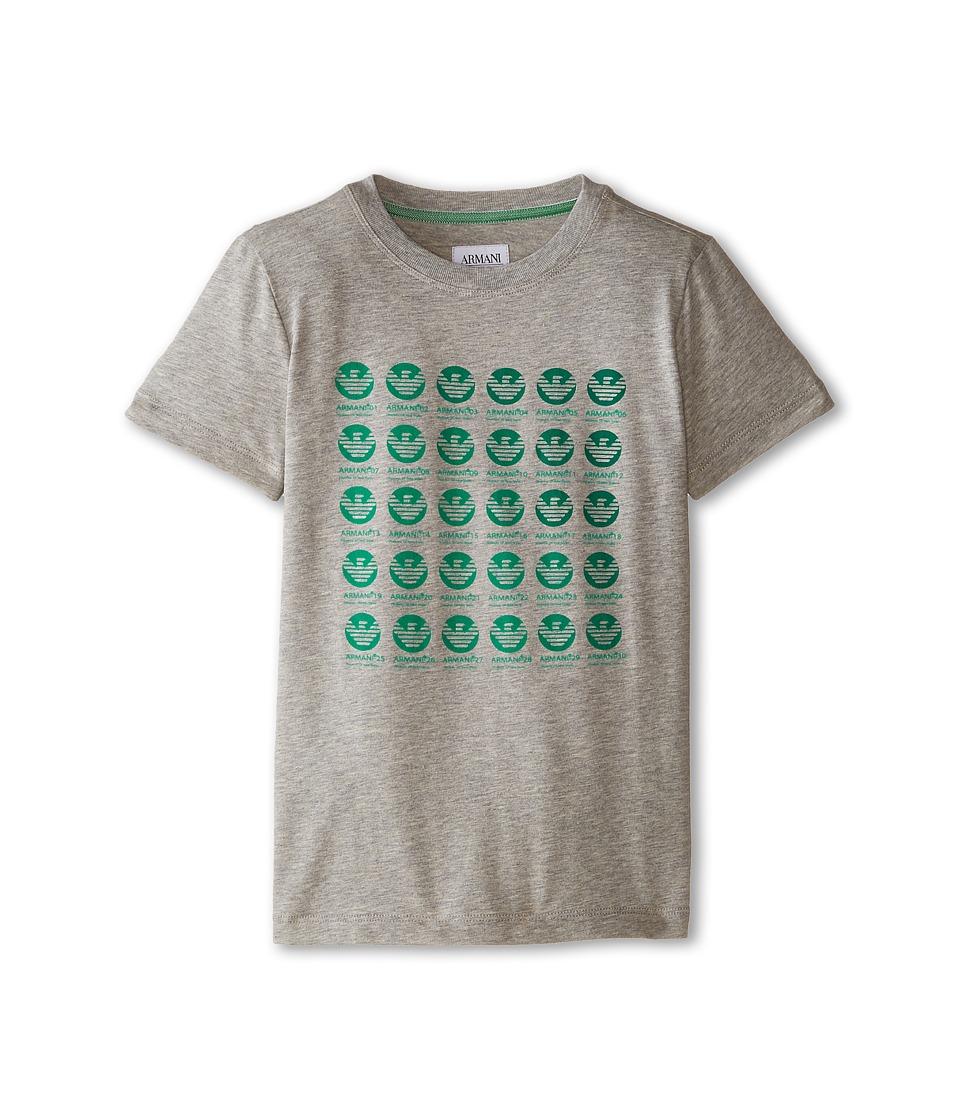Image of Armani Junior - AJR Circle Logo Block w/ Ombre (Toddler/Little Kids/Big Kids) (Black/Multi) Boy's T Shirt