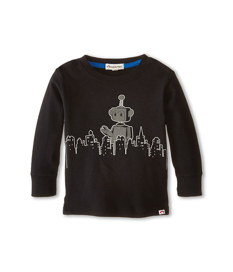 Appaman Kids - Long Sleeve Graphic Tee - Appabot (Toddler/Little Kids/Big Kids) (Black) Boy