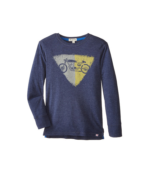 Appaman Kids - Long Sleeve Graphic Tee - Retro Racer (Toddler/Little Kids/Big Kids) (Galaxy Heather) Boy