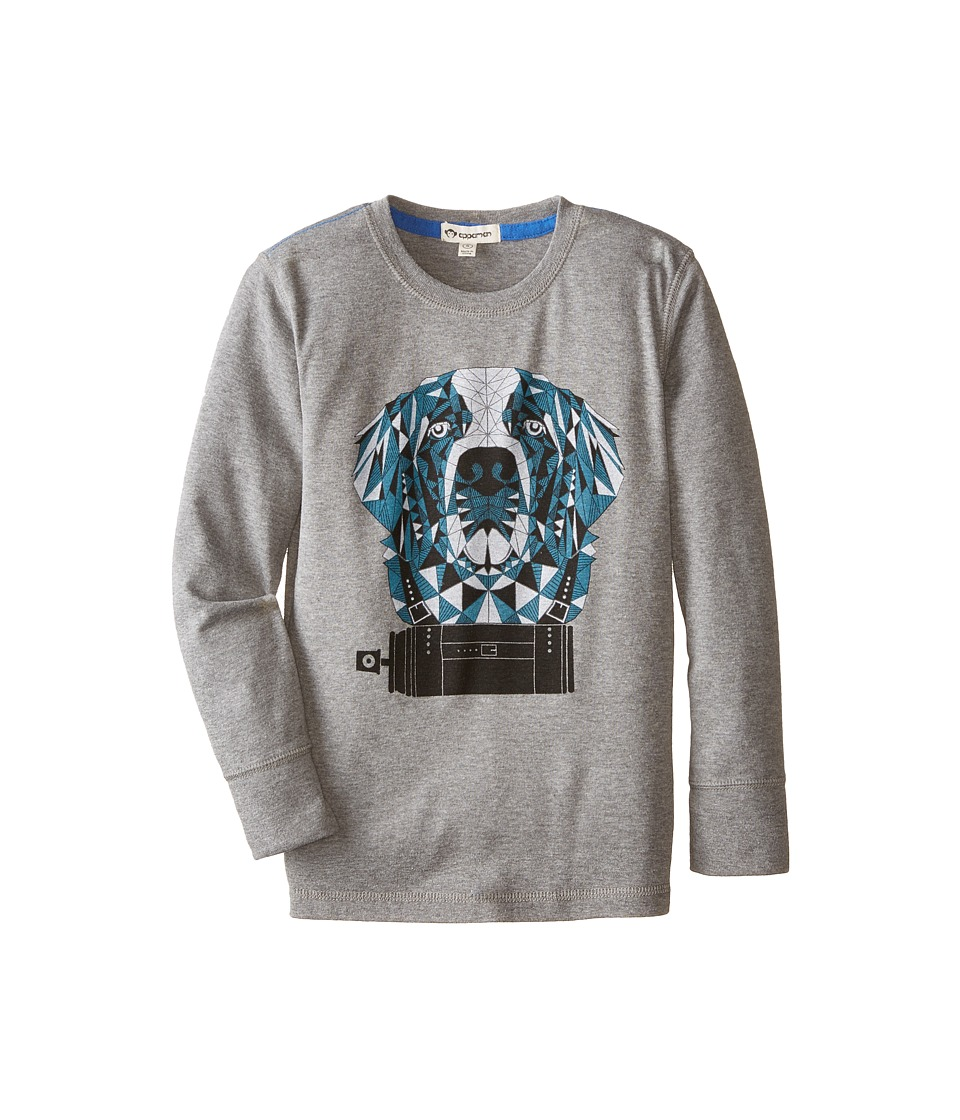Appaman Kids - Long Sleeve Graphic Tee - Spray Bernard (Toddler/Little Kids/Big Kids) (Light Grey Heather) Boy's T Shirt
