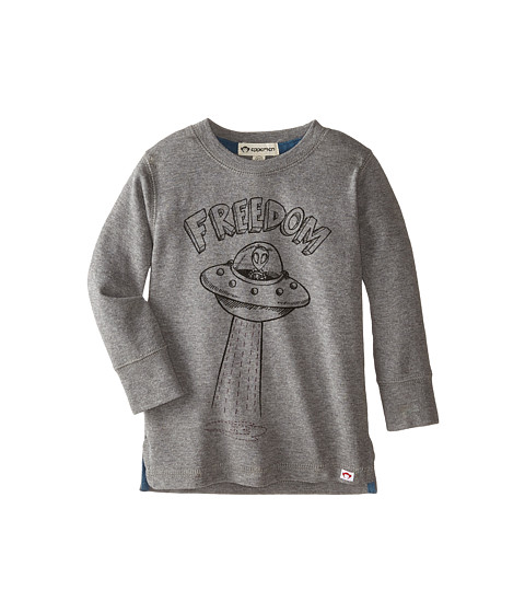 Appaman Kids - Long Sleeve Graphic Tee - Freedom (Toddler/Little Kids/Big Kids) (Light Grey Heather) Boy's T Shirt