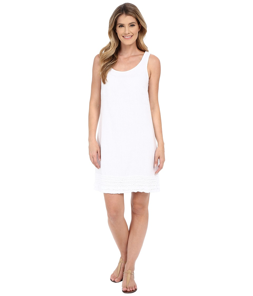 Tommy Bahama - Two Palms Ruffle Dress (White) Women's Dress