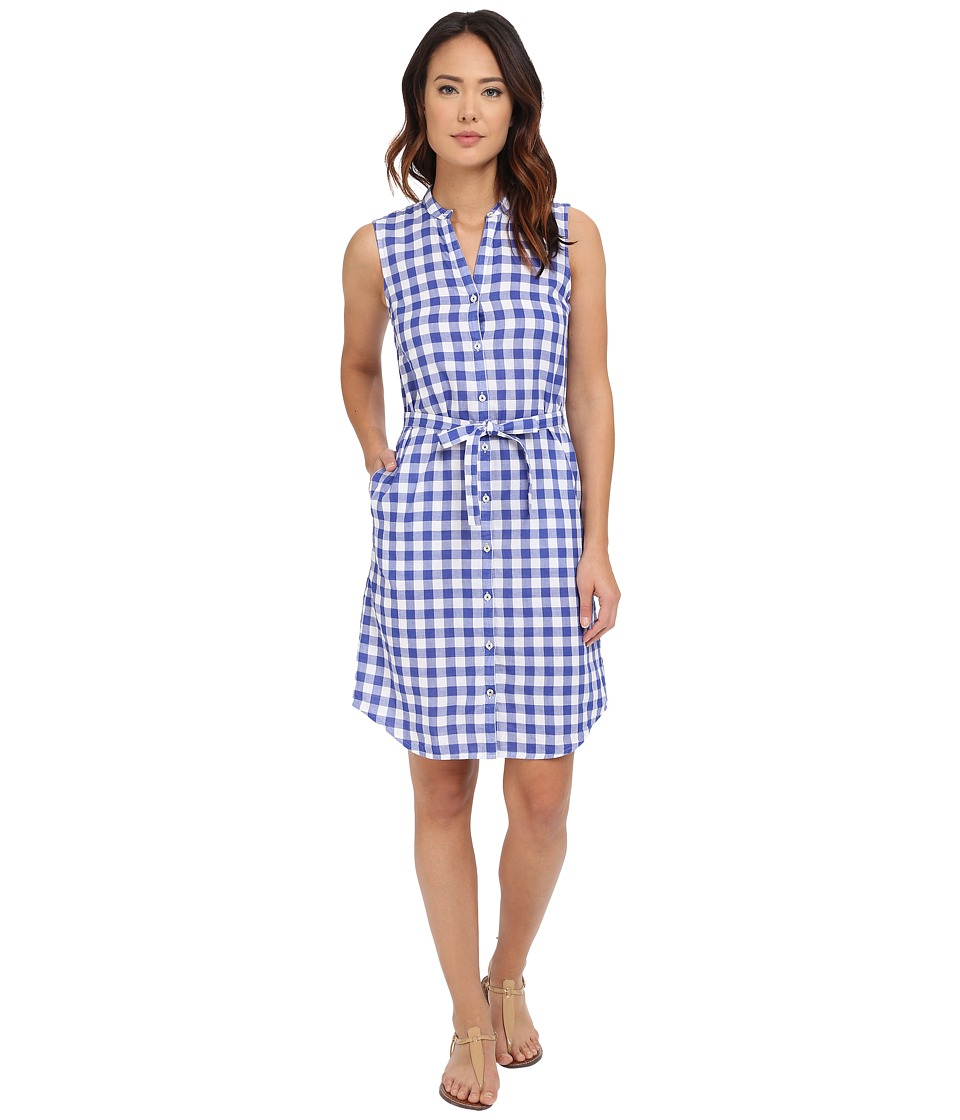 Tommy Bahama - Grand Gingham Shirtdress (Mazarine Blue) Women's Dress