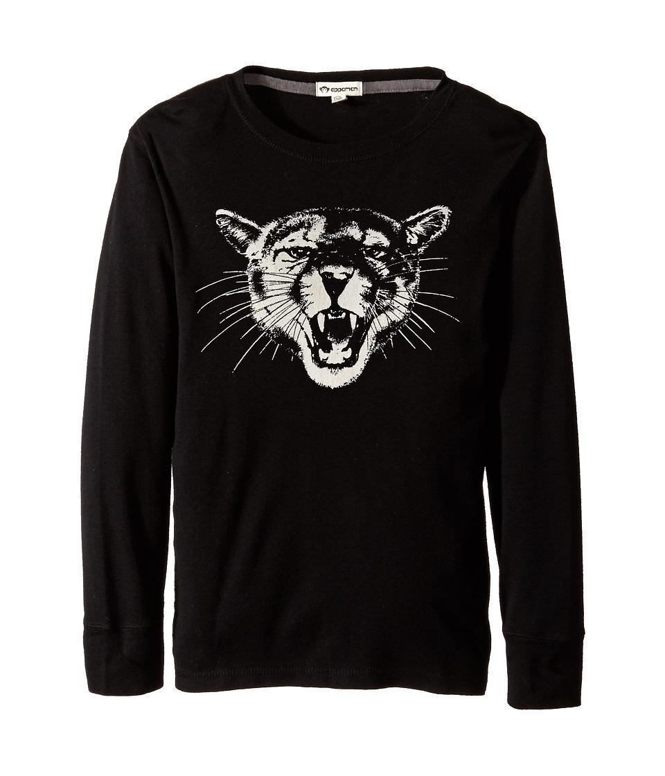Appaman Kids - Long Sleeve Graphic Tee - Big Cat (Toddler/Little Kids/Big Kids) (Black) Boy's T Shirt