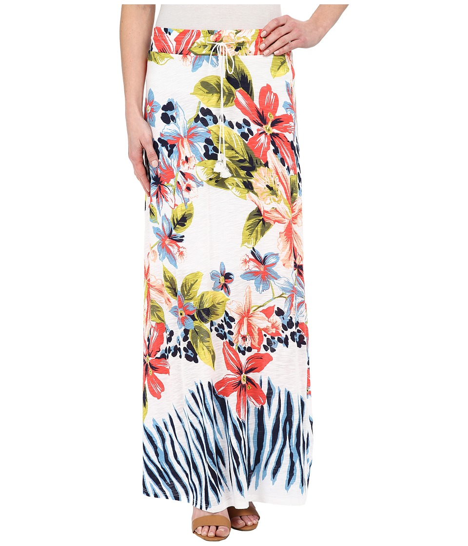 Tommy Bahama - Bungaroo Blooms Long Skirt (White) Women's Skirt plus size,  plus size fashion plus size appare