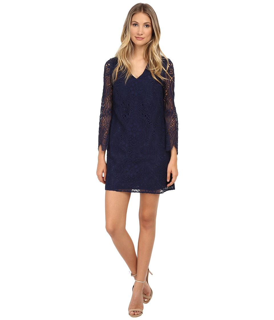 Lilly Pulitzer - Felicity Dress (True Navy Sunburst Lace) Women