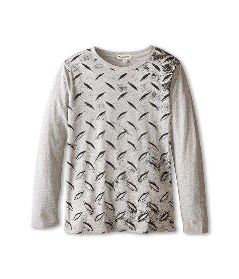 Appaman Kids - Fine Line Long Sleeve Graphic Tee - Heavy Metal (Toddler/Little Kids/Big Kids) (Light Grey Heather) Boy's T Shirt