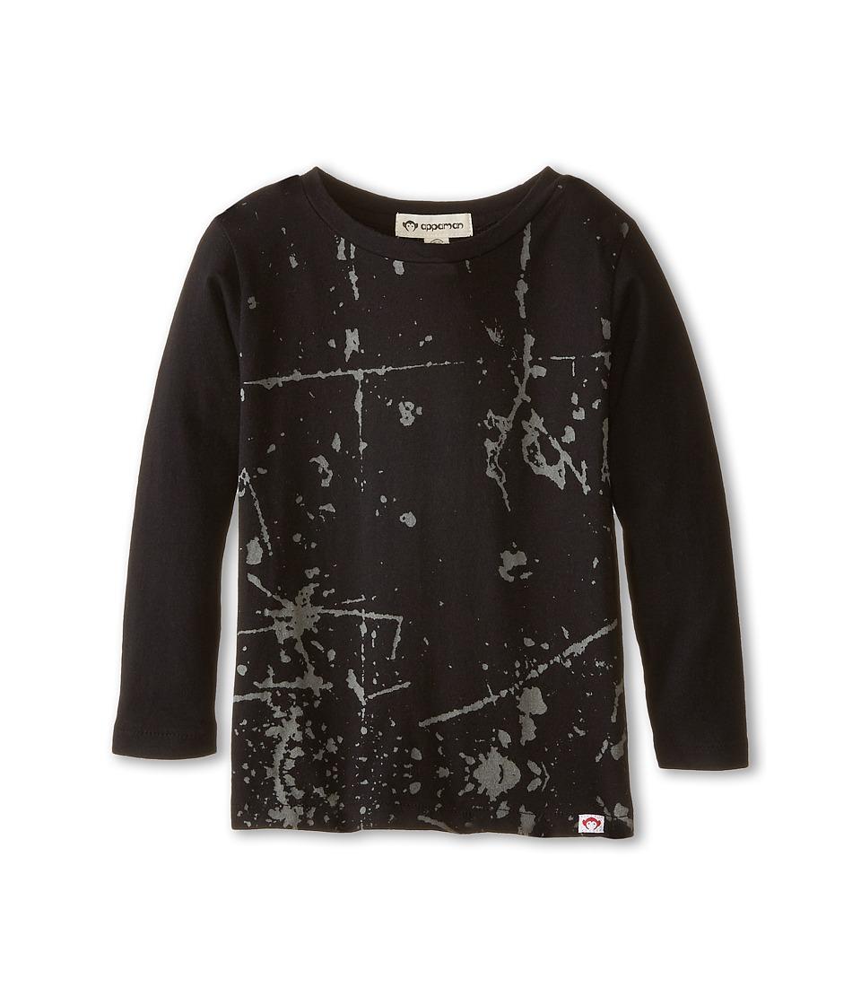 Appaman Kids - Fine Line Long Sleeve Graphic Tee - Grounded (Toddler/Little Kids/Big Kids) (Black) Boy's T Shirt