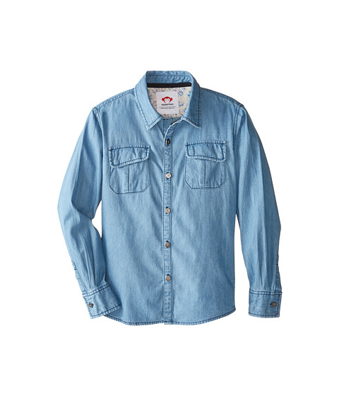 Appaman Kids - Warren Shirt (Toddler/Little Kids/Big Kids) (Blue Chambray) Boy's Clothing