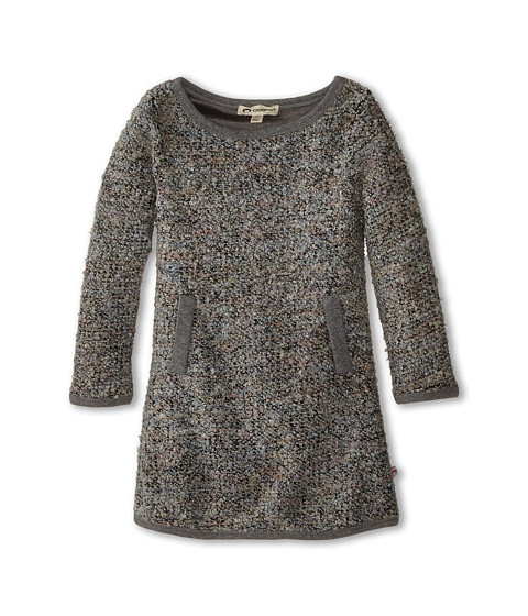 Appaman Kids - Long Sleeve Aline Dress - Popcorn (Toddler/Little Kids/Big Kids) (Grey Melange) Girl