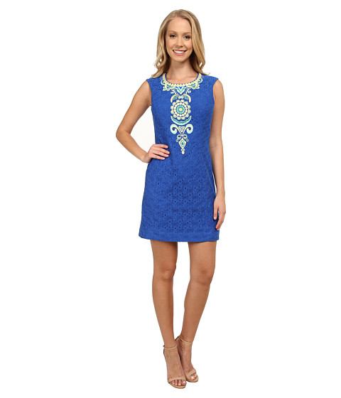 Lilly Pulitzer - Valentia Shift (Blue Crush Corded Umbrella) Women's Dress
