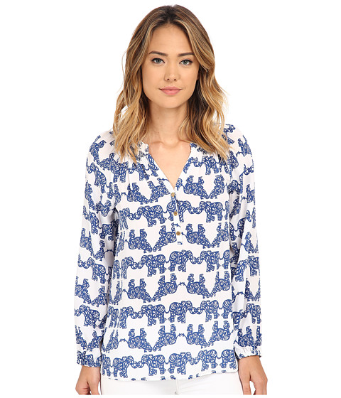 Lilly Pulitzer - Printed Elsa Top (Resort White Pack Your Trunk) Women