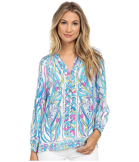 Lilly Pulitzer - Elsa Top (Resort White Long Story Engineered) Women's Clothing