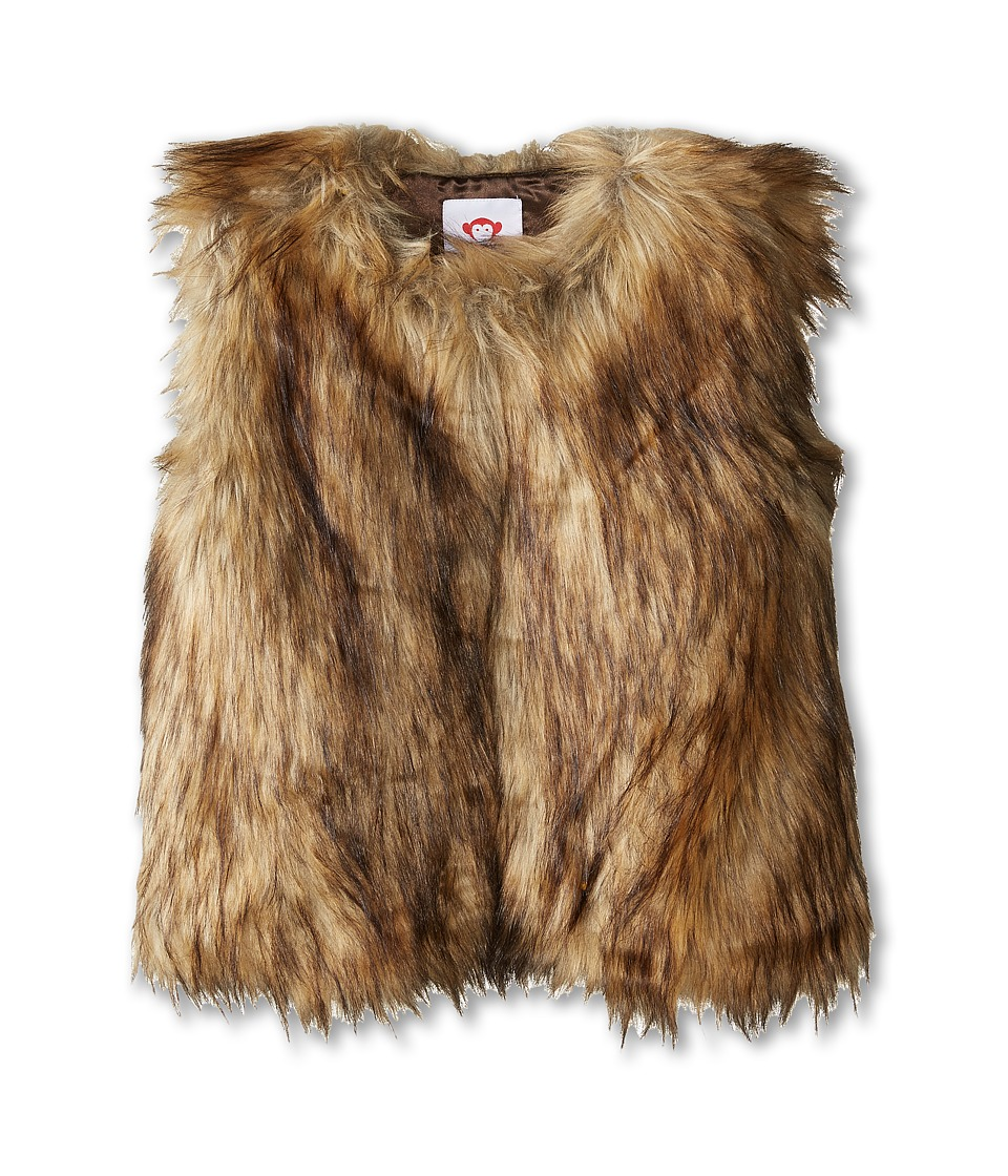 Appaman Kids - Faux Fur Vest (Toddler/Little Kids/Big Kids) (Brown Multi) Girl's Vest