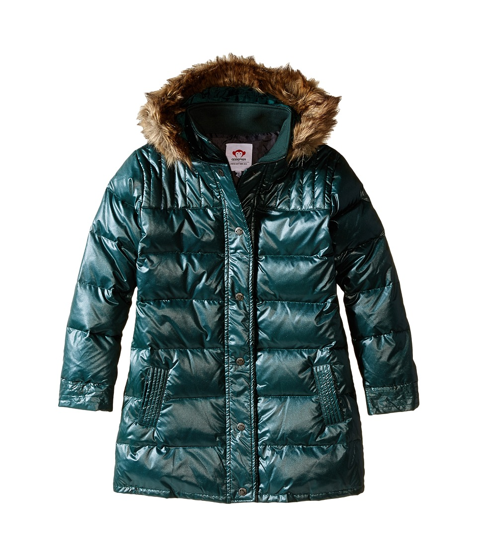 Appaman Kids - Long Down Coat (Toddler/Little Kids/Big Kids) (Sparkle Hunter Green) Girl's Coat