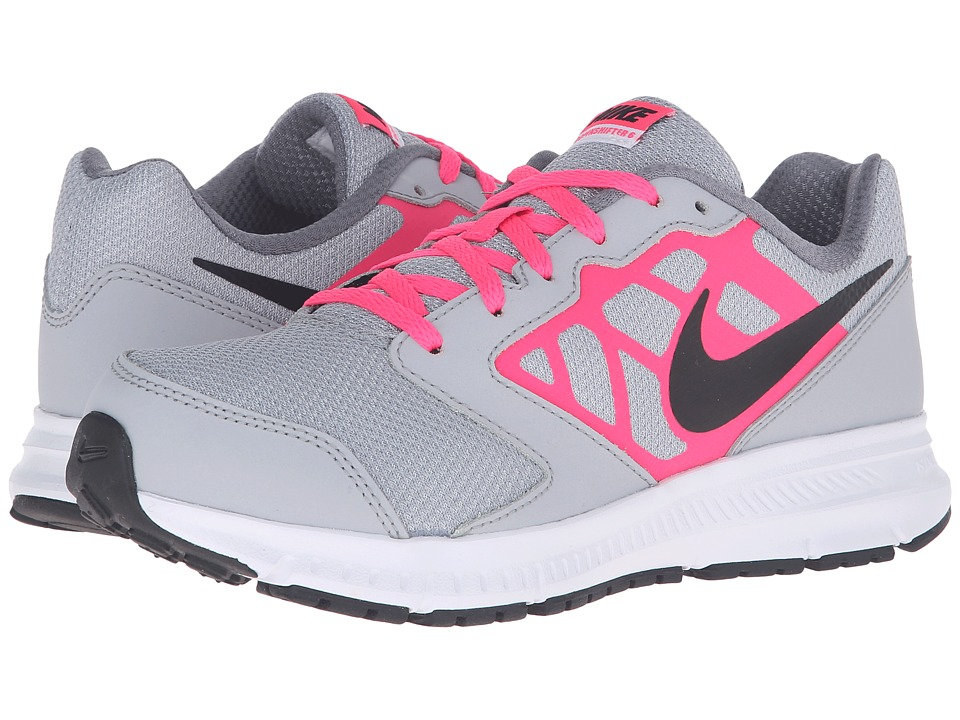 Nike Kids - Downshifter 6 (Little Kid/Big Kid) (Wolf Grey/Hyper Pink/White/Black) Girls Shoes