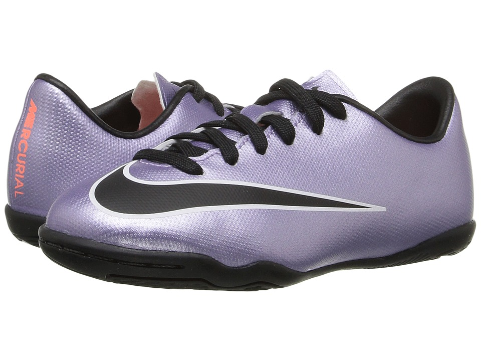 Nike Kids - Jr Mercurial Victory V IC (Little Kid/Big Kid) (Urban Lilac/Bright Mango/Black) Kids Shoes