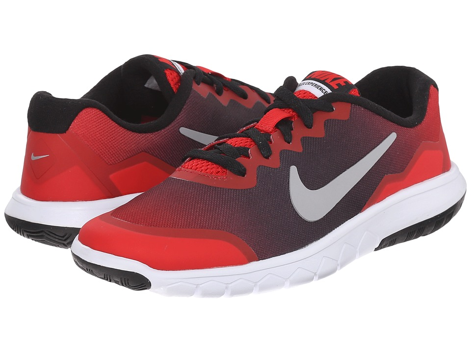 Nike Kids - Flex Experience 4 Print (Big Kid) (University Red/Black/White) Boys Shoes