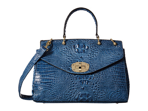 Gabriella Rocha - Joan Crocodile Purse (Blue) Handbags