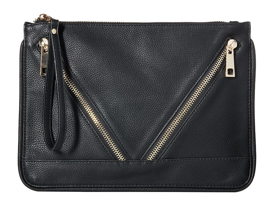 Gabriella Rocha - Alyssa Double Zipper Purse (Black) Handbags