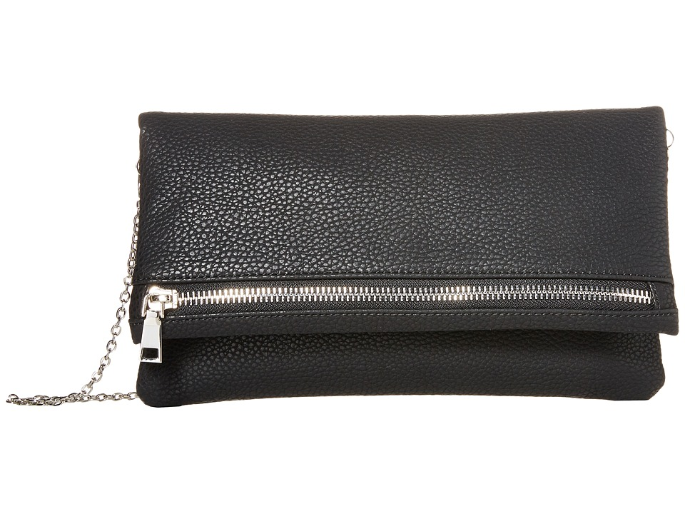 Gabriella Rocha - Laura Foldover Purse with Zipper (Black) Handbags