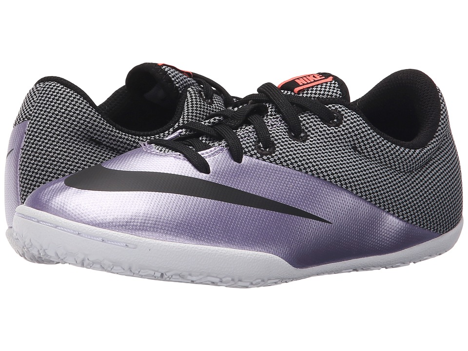 Nike Kids - Jr Mercurial Pro IC Soccer (Little Kid/Big Kid) (Urban Lilac/Bright Mango/Black) Kids Shoes