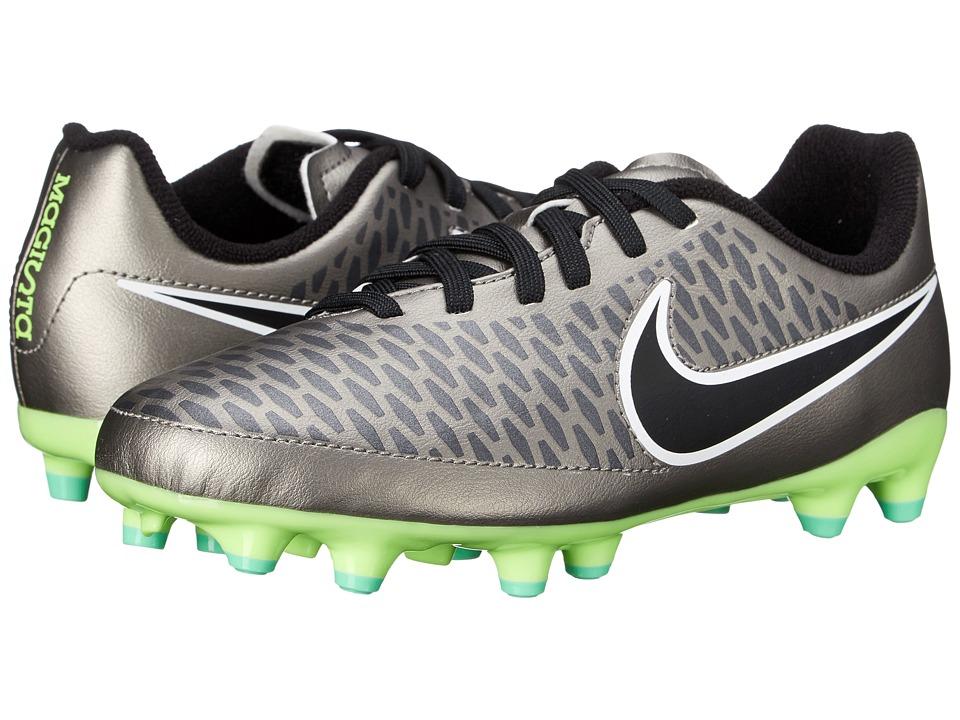 Nike Kids - Jr Magista Onda FG Soccer (Toddler/Little Kid/Big Kid) (Metallic Pewter/Ghost Green/Black) Kids Shoes