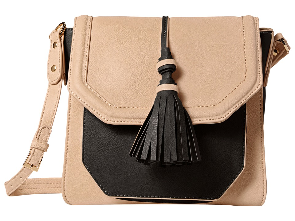 Big Buddha - Crossbody with Tassel (Black/Bone) Cross Body Handbags