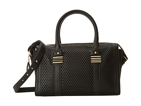Big Buddha - Perforated Satchel (Black) Satchel Handbags