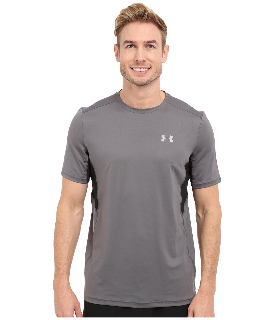 Under Armour - UA Coolswitch Run Shortsleeve Shirt (Graphite/Black/Reflective) Men's Short Sleeve Pullover