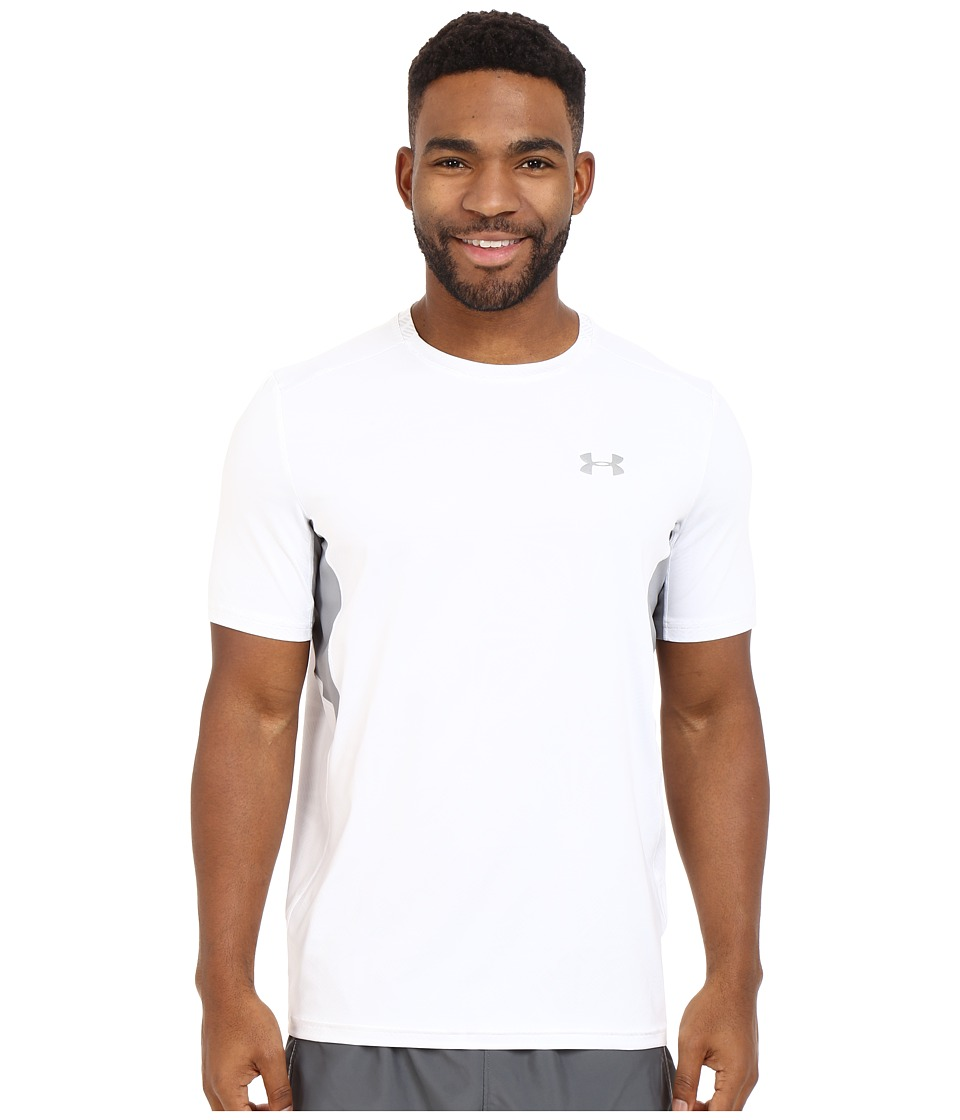 Under Armour - UA Coolswitch Run Shortsleeve Shirt (White/Steel/Reflective) Men's Short Sleeve Pullover