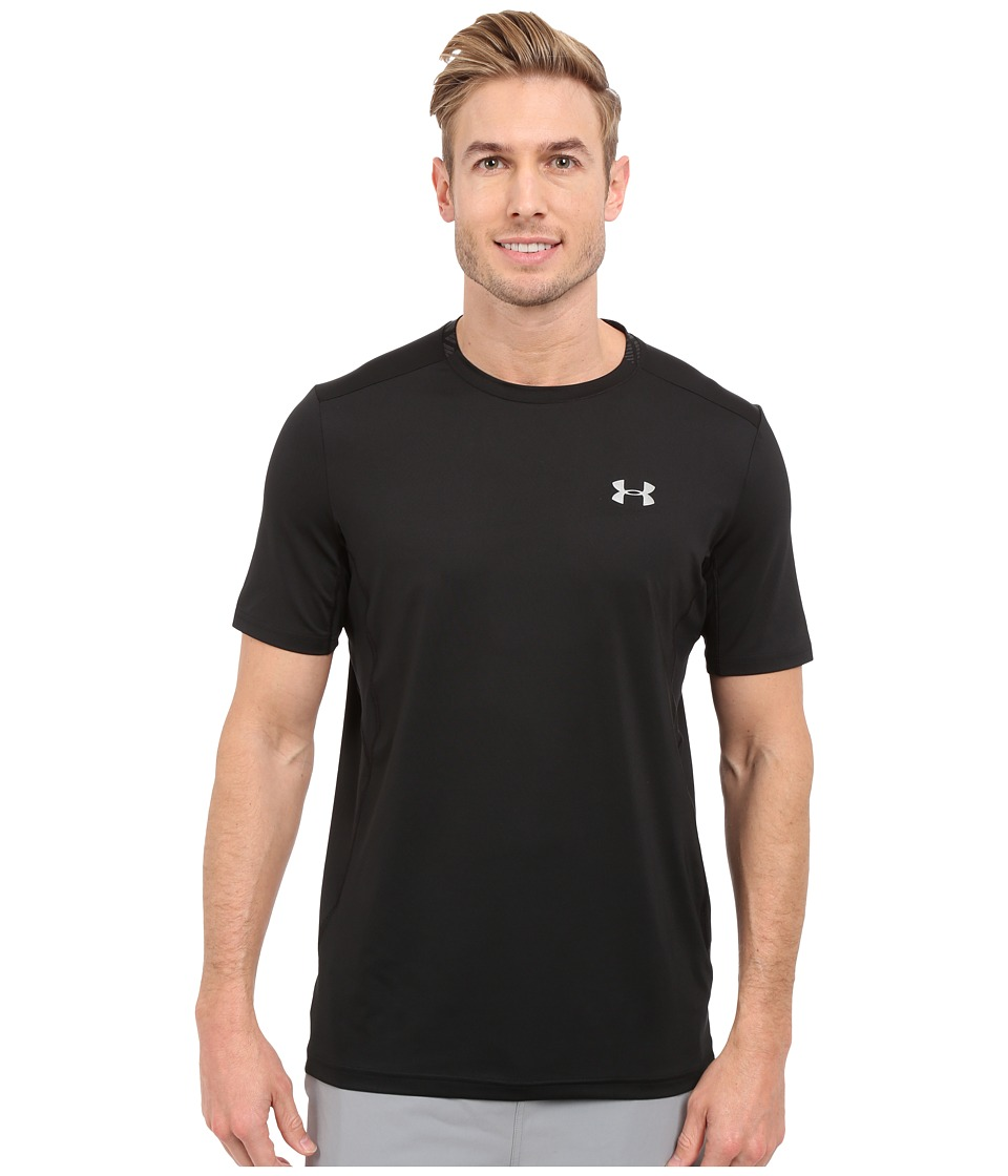Under Armour - UA Coolswitch Run Shortsleeve Shirt (Black/Black/Reflective) Men's Short Sleeve Pullover