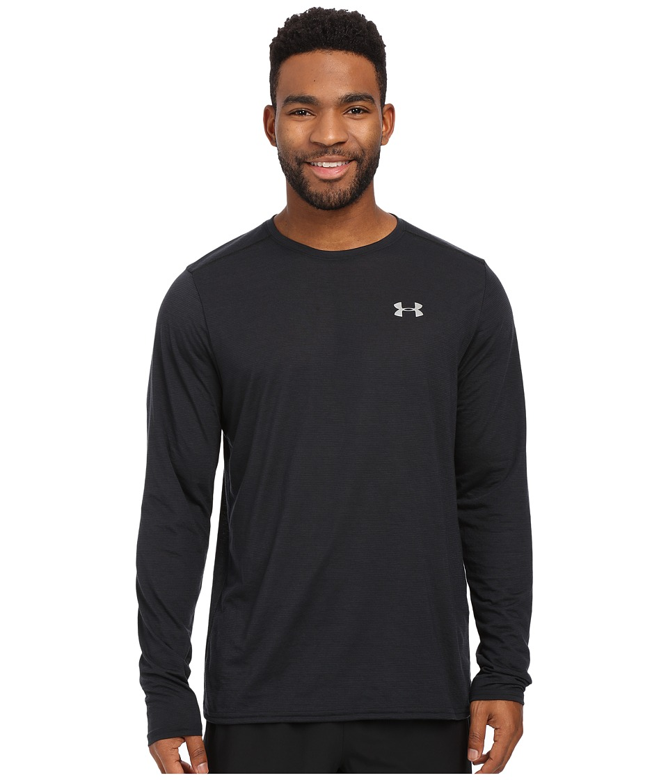 Under Armour - UA Streaker Longsleeve Tee (Black/Steel/Reflective) Men's Long Sleeve Pullover