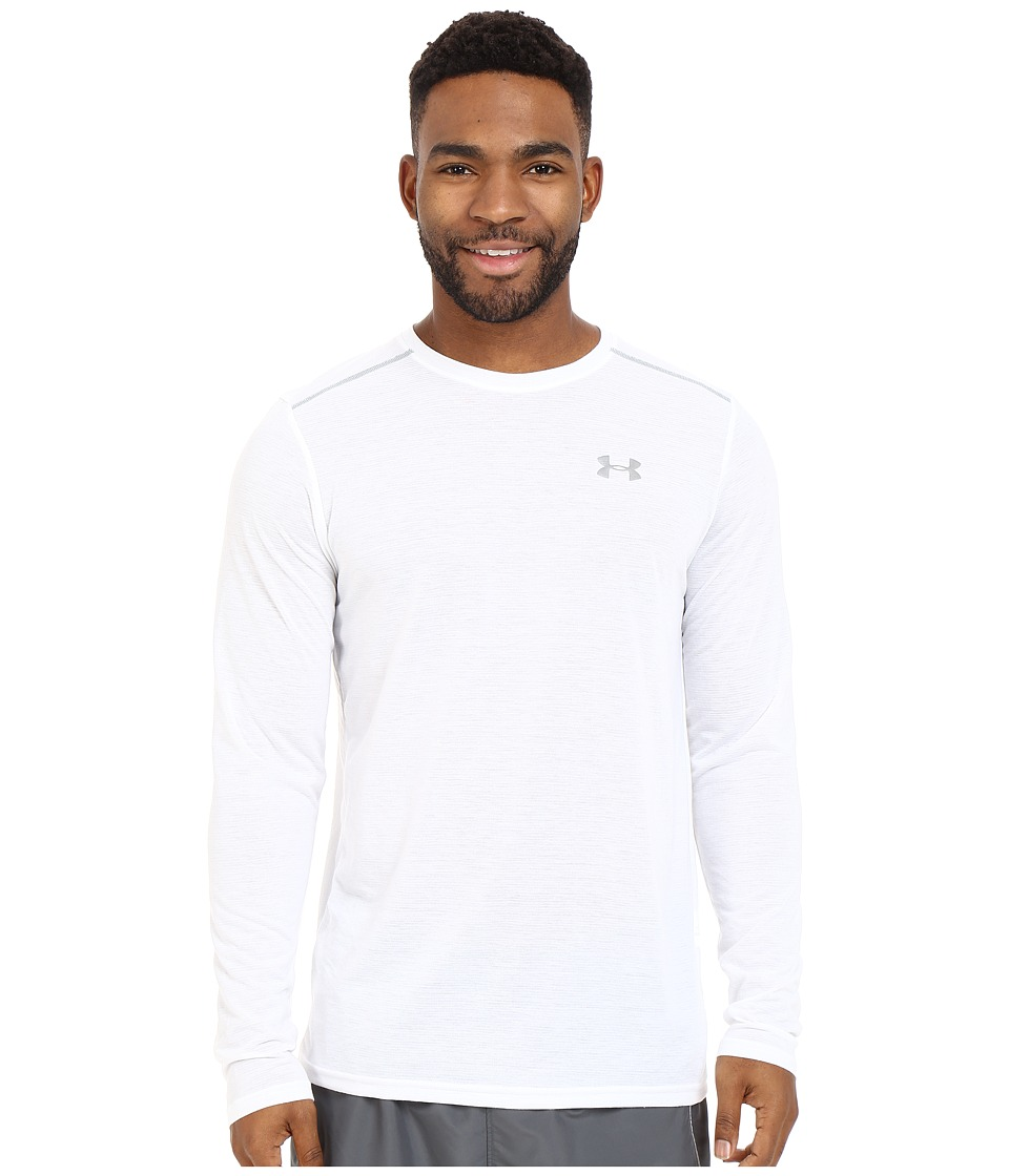 Under Armour - UA Streaker Longsleeve Tee (White/Steel/Reflective) Men's Long Sleeve Pullover