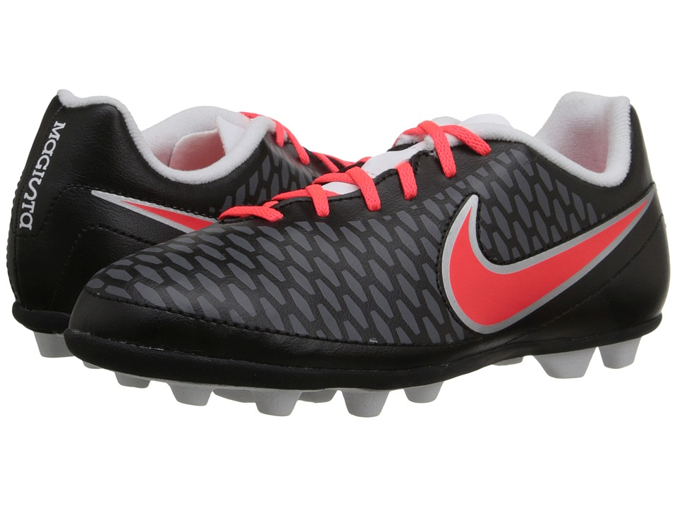 Nike Kids - Jr Magista Ola FG-R Soccer (Little Kid/Big Kid) (Black/White/Dark Grey/Bright Crimson) Kids Shoes