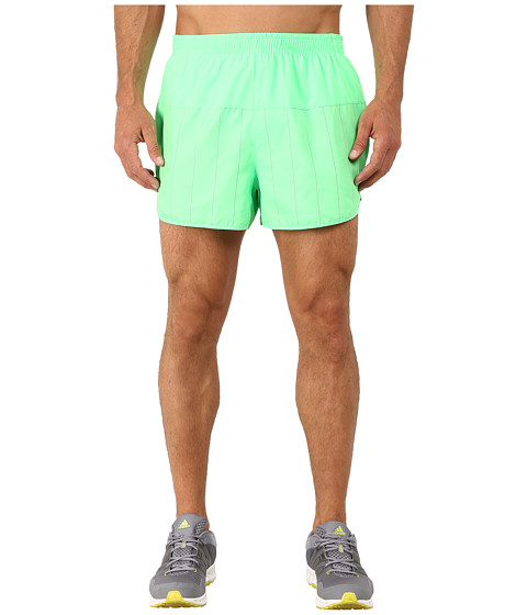 adidas - Supernova Split Shorts (Flash Green/Dark Grey Heather Solid Grey) Men's Shorts